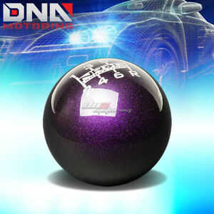 Nrg Anodized Ball Style Weighted 6 Speed Gear Shifter Shift Knob Purple White