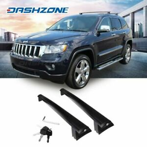 Black Roof Rail Rack X Cross Bar Luggage Carrier Fit 2011 18 Jeep Grand Cherokee