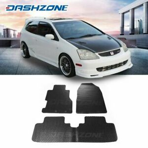 All Weather Black Rubber Floor Mat Front Rear Fit 2002 2005 Honda Civic Si Hb