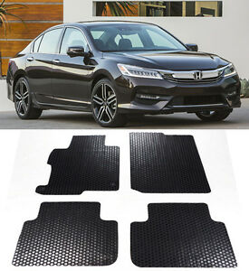 All Weather Black Rubber Floor Mat Front Rear Fit 2013 2017 Honda Accord 4d