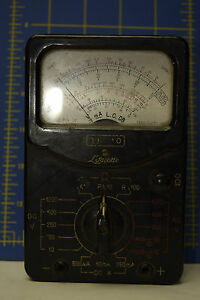 Antique Lafayette Tk 10 Multitester Black Face And Gray Box Old