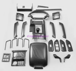Carbon Fiber Style Car Interior Kit Cover Trim Fit For Toyota Prado Fj150 2018