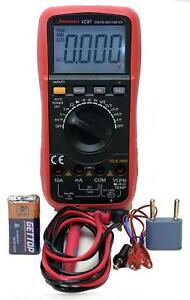 Auto Ranging True Rms Digital Multimeter Thermometer Capacitance Frequency Lcd