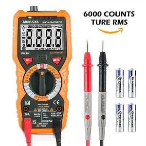 True Rms Digital Multimeter Voltage Current Resistance Tester Acdc Backlight Lcd