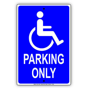 Handicap Disabled Parking Only Hospital Office Mart Aluminum Metal Sign