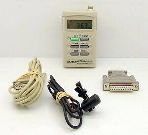 Extech 407355 Noise Dosimeter Personal W rs232 Software cable