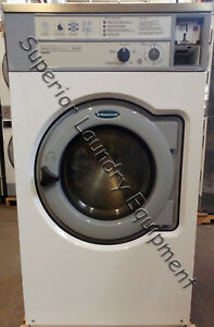 Wascomat W640 Hard Mount Washer 40lb White Coin 220v 3ph Reconditioned
