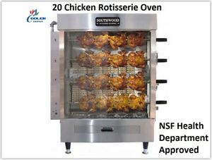 New 20 Chicken Duck Rotisserie Convection Oven Hd Restaurant Equipment Nsf