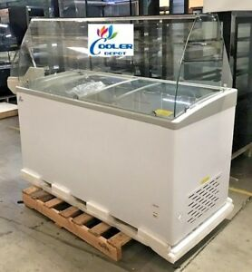 New 60 Ice Cream Gelato Glass Dipping Freezer Showcase Display Commercial Nsf
