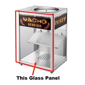 Replacement Glass Rear Panel For Nacho Station Warmer Cabinet Great Northern
