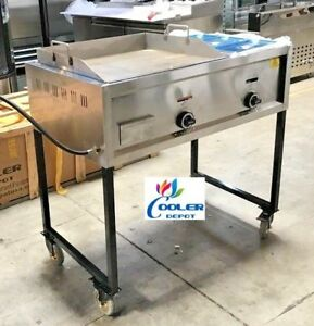 New 41 Taco Grill Griddle Cart 2 Burner Comal Asada Burger Pollo Model G24w1