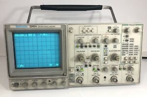 Tektronix 2245a 100 Mhz 4 Channel Dual Time Base Analog Oscilloscope Powers On