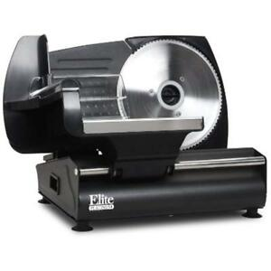Electric Meat Food Slicer Slices Perfect Deli Thin Cold Cuts Cheeses Vegetables