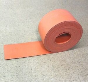 Silicone Rubber Sheet Solid Strip Us Hi temp 1 8 thk X 4 W X 12 ft Roll 60 D