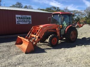 2010 Kubota L5740 4x4 Hydro Compact Tractor W Loader Cab