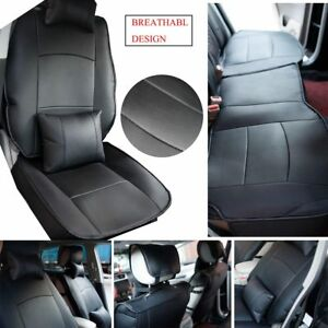 Black Pu Leather Car Seat Cover Breathabl For Dodge Ram 1500 2500 3500 2013 2017