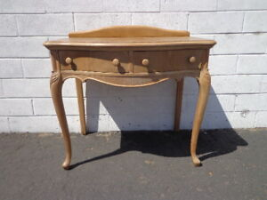 Desk Vanity Writing Table Office Vintage Regency French Provincial Empire Shabby