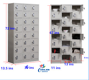 New Commercial 24 Door Steel Locker Storage Cabinet 36 X 13 5 X 72 Lockable