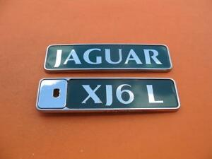 95 96 97 Jaguar Xj Xj6 L Xj6l Rear Lid Green Emblem Logo Badge Sign Symbol Set