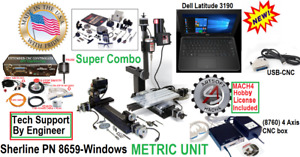 Sherline 8659 Supercombo Dell Laptop Usb Cnc 5 Limit Sw Digitiz Probe Emerg Stop