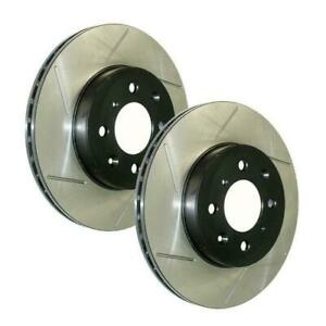 Stoptech Power Slot Rear Brake Rotors For 13 14 Ford Mustang Shelby Gt500