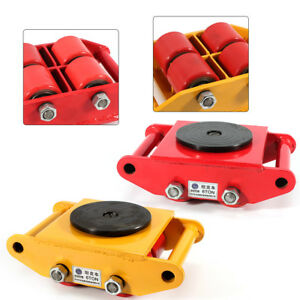 13200lb 6t Machinery Mover Roller Dolly Skate W 360 Swivel Top Plate Usa Stock