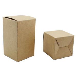 Brown Kraft Paper Box Packaging Wedding Favors Party Gift Candy Boxes Foldable