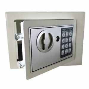 Digital Electronic Home High Security Keypad Lock Wall Jewelry Cash Safe Box As