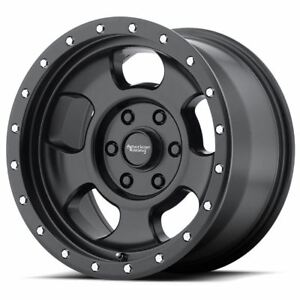 4 New 17x8 0 American Racing Ansen Off Road Satin Black 6x135 Wheels Rims
