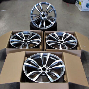 Fits Bmw X5 X6 X5m X6m Xdrive Gunmetal Machined Wheels 5x120 20 Rims 469 Style