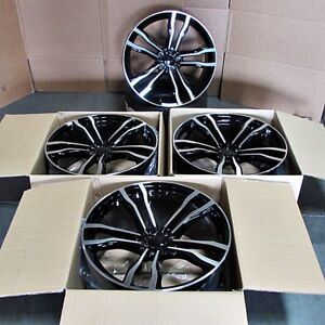 Fits Bmw X5 X6 X5m X6m Black Machined Face 22 612 Style Staggered Wheels