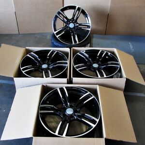 Fits Bmw 5 6 Series M6 Sport Style 437 In Black Machined Rims 20 Wheels