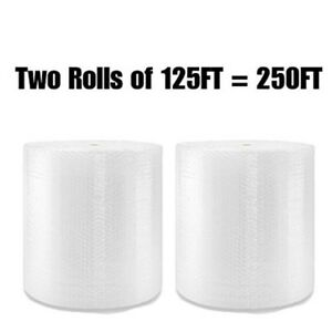 Big Bubble Wrap Large 1 2 Inch 250 Ft Roll Xl X 24 Tv Uhaul Perforated Bulk Air