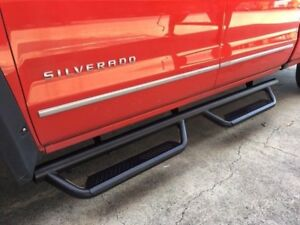 07 18 Silverado Sierra Crew Cab Oe Style Black Nerf Bars Steps Running Boards