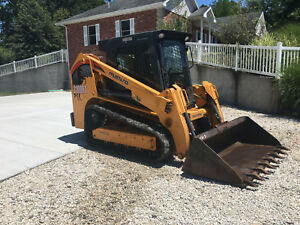 2014 Mustang 2100rt High Flow Track Skid Steer Loader 2 Speed Cab Heat A c