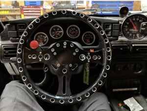 13 5 Super Max Lightweight Drag Racing Performance Steering Wheel 5 bolt