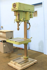 20 Swg 1 5hp Spdl Clausing 20 Step pulley Drill Press 3mt T slotted Tbl