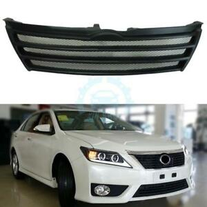 1pc Resin Matte Black Front Grille Grill Mesh For Toyota Camry 7th 2012