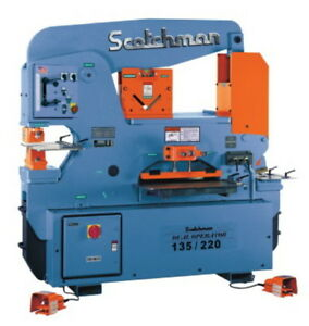 135 Ton 12 Thrt Scotchman Do 135 220 24m made In The Usa New Ironworker Dual