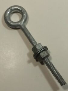 3 8 X 4 1 2 Threaded Lifting Eye Bolts With Nuts Washers 9 Galvanized