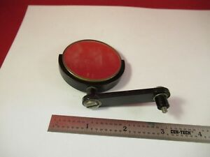 Antique Vintage Bausch Lomb Brass Mirror Microscope Part Optics As Is