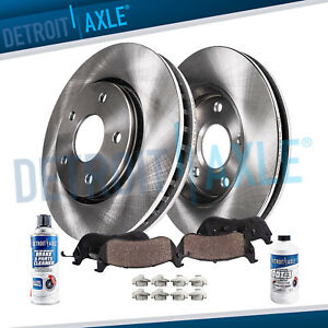 Front Brake Rotors Ceramic Pads For 1999 2004 Land Rover Discovery Series Ii