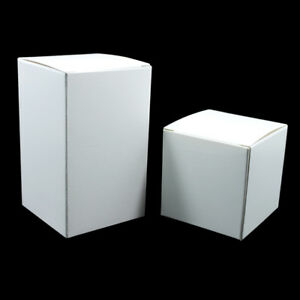 White Kraft Paper Box Package Foldable Wedding Favors Party Gift Food Candy Box