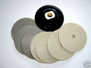 4 Dry Concrete Diamond Polishing Pad 8pc Grinder
