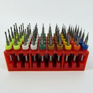 50 Pc ten Size Micro Carbide End Mill Set Sizes 021 063 Made In Usa Ev50