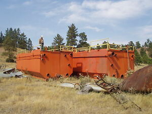 Set Of Two Large Oil Drilling Mud Tanks