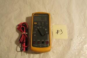 Fluke 87 V True Rms Digital Multi meter And Lead In Good Condition 3