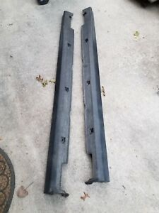 02 06 Acura Rsx Oem Left And Right Side Skirts Black 71800 S6ma Zz00
