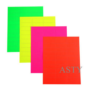 3000 Address Labels 100 Sheets White fluorescent Color Amazon Fba Labels 30up