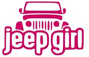Jeep Girl Vinyl Sticker Decal Car Jeep Truck Suv